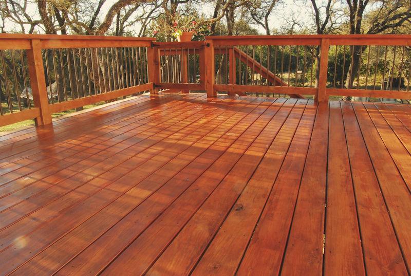 stinaed deck - excellent painters