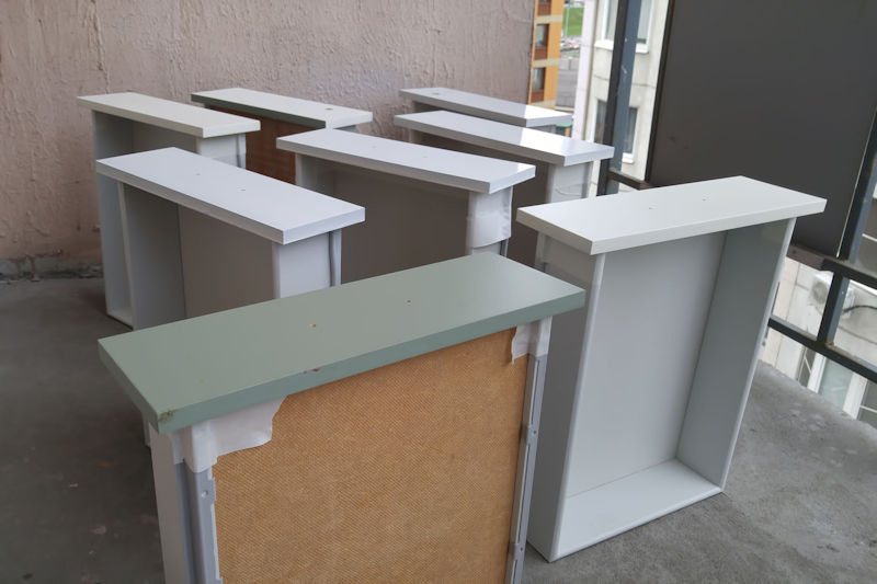 drawers being painted - excellent painters