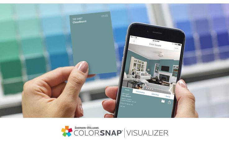 color snap visualizer - Sherwinn-Williams